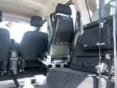 Mercedes Citan Rolstoelauto van de binnenkant