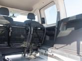 Volkswagen Caddy Rolstoelauto van Freedom Auto Aanpassingen tweede zitrij ingeklapt