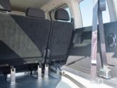 Volkswagen Caddy Rolstoelauto van Freedom Auto Aanpassingen binnenkant tweede zitrij