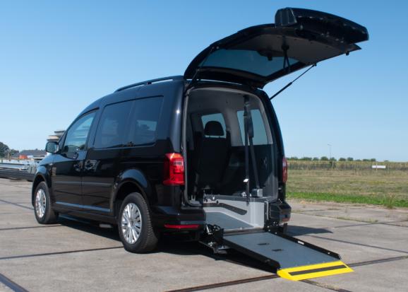 Volkswagen Caddy Rolstoelauto van Freedom Auto Aanpassingen