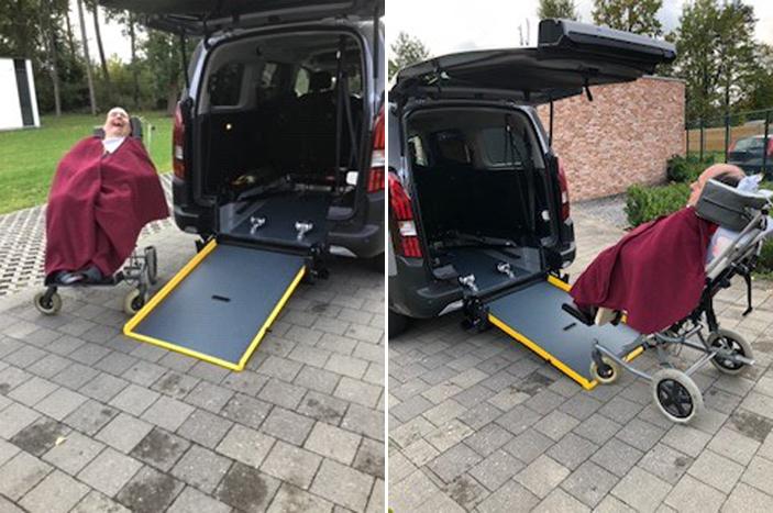 Familie Op 't Eynde uit Zonhoven - Peugeot Rifter Rolstoelauto