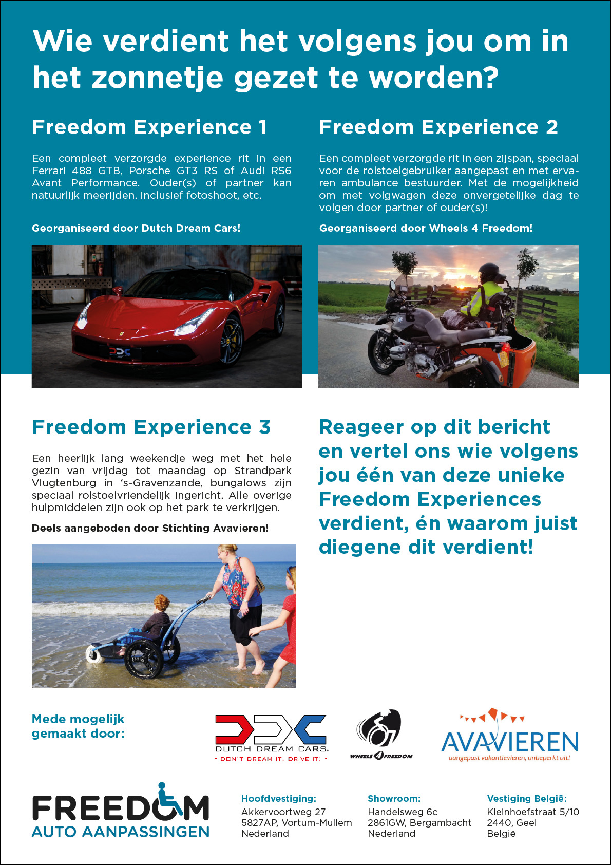 Freedom Experiences giveaway
