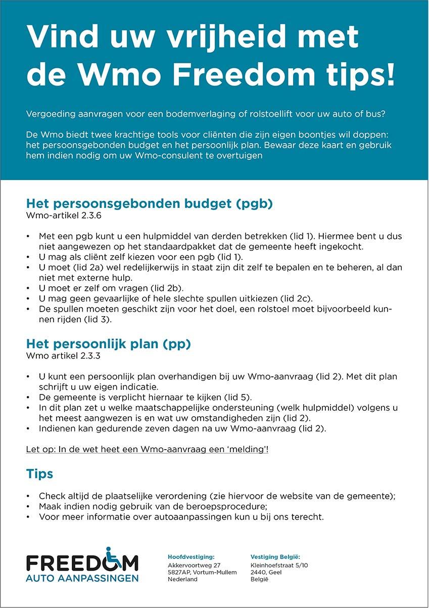 WMO Freedom tips 2021